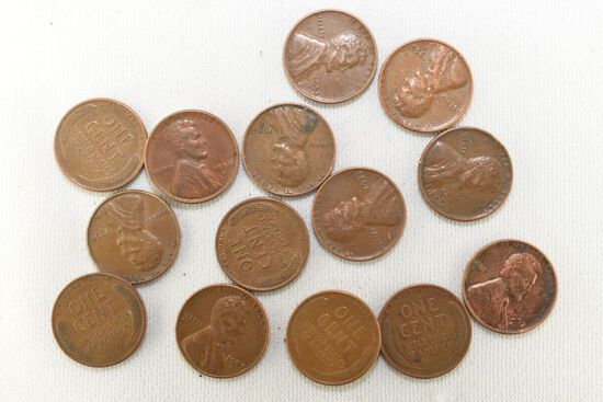 15-40's & 50 Wheatcents and 30 - 1960 - D Cents