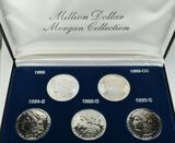 Morgan Silver Dollar Proof Set of Key Dates,  Replica Set in Case