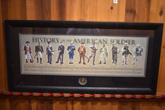 American Soldier (all wars) NRA Framed Poster