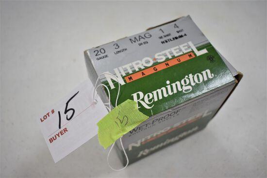 "1 - Box of 25, 20 ga. Remington 3"" 4 shot"