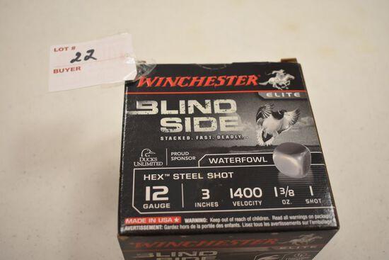 """1 - Box of 25, 12 ga. Winchester 3"""" 1 shot"""