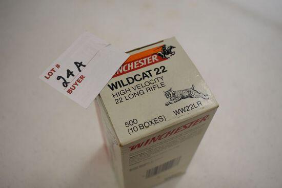 Boxes, 500 ea., 22LR Winchester Wildcat Lead