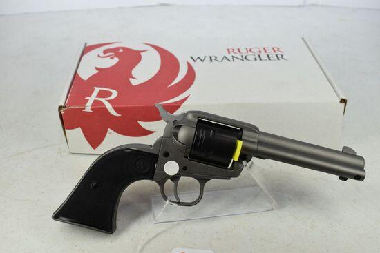 Ruger Wrangler Revolver, NIB, silver, .22lr, SN-200-93518