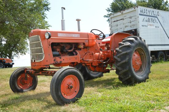 1960 AC D17 Tractor, Series 1, Snap Coupler, 16.9-28 Rear Spin Out  Rubber