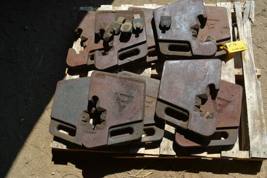 Tractor Weights - Weights Only, Weight Locks sold Separately (10xBid)