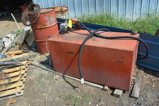 100 Gallon Fuel Tank with Electric Pump