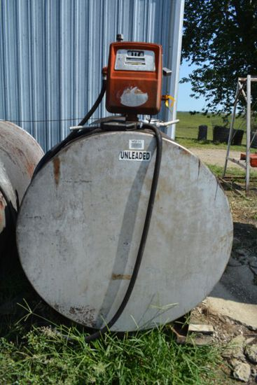 500 Gallon Fuel Tank With Electric Pump Gas
