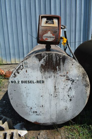 500 Gallon Fuel Tank With Electric Pump Red Fuel