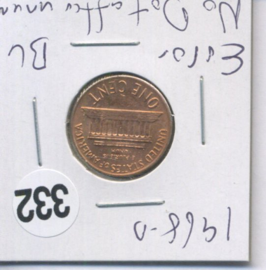 1968-D Error Penny No Dot After unum   Coins & Currency