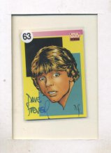 Luke Skywalker Card Autographed by Dave Stevens