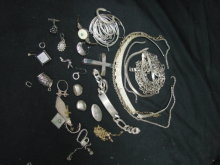 Big Bag Of Old Broken Sterling Silver Jewelry 13.5