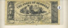 The State of Georgia One Hundred Dollar bill 1864