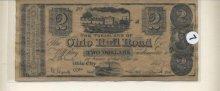 The Ohio Rail Road Two Dollar bill 1845 #1489
