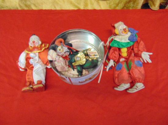 Five Porcelain Clown Dolls | Auctions Online | Proxibid