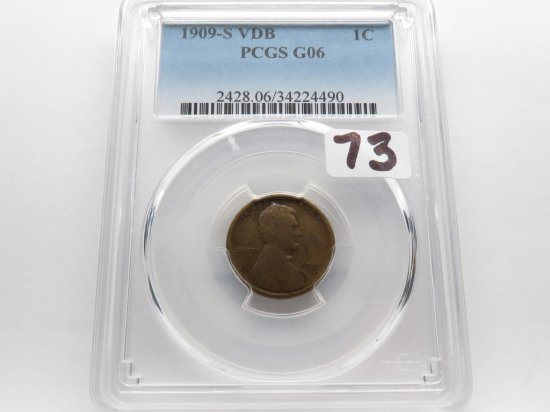 Lincoln Cent 1909S VDB PCGS G06, Key Date