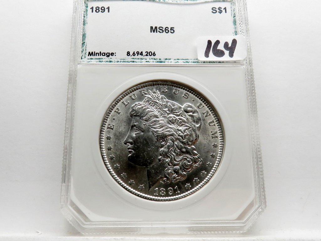 Morgan $ 1891 PCI Mint State (Old holder)