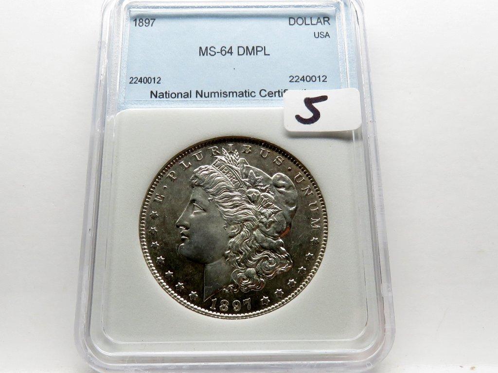 Morgan $ 1897 NNC Mint State DMPL