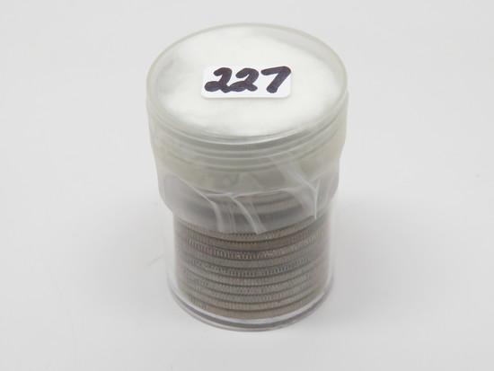 20 Silver Half $:  3 Franklin (1948, 1953, 1954), 17 Kennedy (2-1961, 1-1962, 14-1964D)