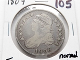 Capped Bust Half $ 1809 normal edge Fine scratches