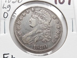Capped Bust Half $ 1830 Large 0, F+