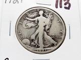 Walking Liberty Half $ 1921 G Semi-Key