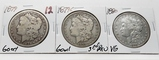 3 Morgan $: 1879 G, 1879S 3rd rev G, 1880 VG