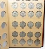 Dansco Walking Liberty Half $ Album, 1937-1947D, 26 Coins  (no 37D-38D) avg circ, dt/mm unchecked