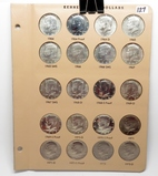 Dansco Kennedy Half $ Page, 20 Coins BU & PF: 1964PDS, 65P & SMS, 66P & SMS, 67P & SMS, 68DS, 69DS,