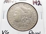 Morgan $ 1891CC VG rough, better date