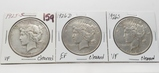 3 Peace $ cleaned: 1925S VF, 1926D EF, 1926S VF