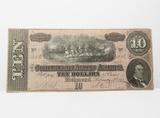 1864 Confederate States of America $10 Note, No. 1403, Fine