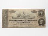 1864 CSA $20 Note Richmond No.18601, Fine