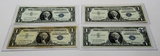 4-$1 STAR Silver Certificates VF-EF: 3-1957, 1-1957B