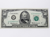 $50 FRN 1969S Chicago SN G10366614A, Unc with 1 light fold line