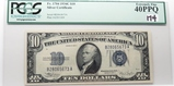 $10 Silver Certificate 1934C SN  B28065673A, PCGS EF40 PPQ