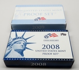 2 US Proof Sets: 2008, 2009