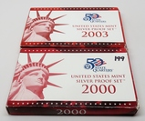 2 Silver US Proof Sets: 2000, 2003