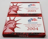 2 Silver US Proof Sets: 2004, 2005