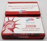 2 Silver US Proof Sets: 2008, 2009