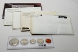 6 US Mint Sets: 1968 (no outer envelope), 69 sealed, 70 (no outer envelope), 71, 79D only, 96 with e