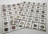 60 World Coins in vinyl pgs, some silver: Mexico, Spain, Cuba, Brasil