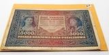 Polish 1919/ 1920  Banknote 5000 Marek, circ nice color