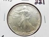 1995 American Silver Eagle BU toning, key date