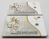 2 Presidential $ Proof Sets: 2014, 2015