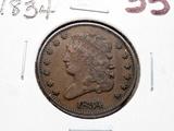 Classic Head Half Cent 1834 VF