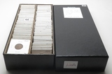 212 Lincoln Cents in double 2x2 Box, 1909-58D, 132 dates, no more than 2 each dt, up to BU