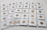 60 Unc-BU Lincoln Wheat Cents in vinyl pages, 1936-1958D, no more than 3 per date, ungraded by us