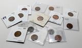 14 Lincoln Cent Error Coins, 1941-1993