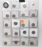 19 BU & Better Buffalo Nickels: 9-1936, 7-1937, 3-1938D