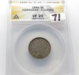 Liberty V Nickel 1886 ANACS VF20 corroded cleaned, Semi-Key